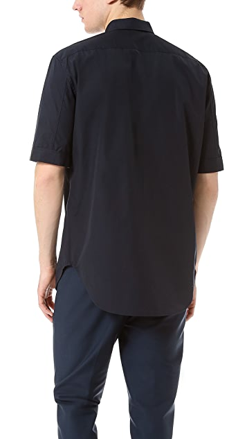 3.1 Phillip Lim Darted Short Sleeve Button Up Shirt
