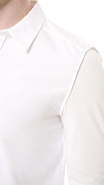 3.1 Phillip Lim Long Sleeve Dolman Button Up Shirt