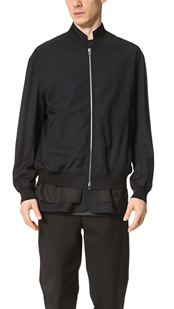 3.1 Phillip Lim Tromp L'oeil Bomber with Notched Collar Facing