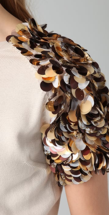 Tribune Standard Carnation Encrusted Sweater