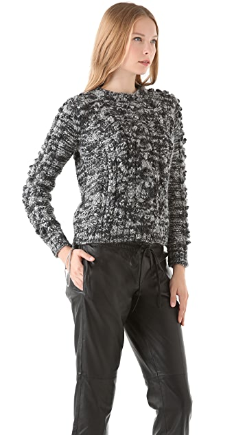 Tribune Standard Bauble Cable Crew Neck Sweater