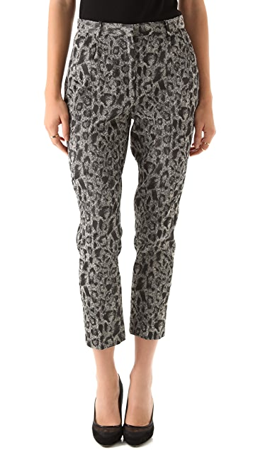 Tribune Standard Leopard Cropped Trousers