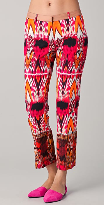 True Royal Ikat Print Pants