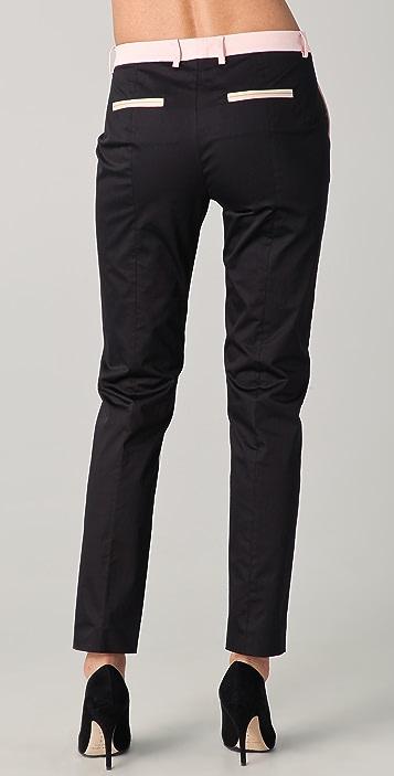 True Royal Slim Fit Colorblock Pants