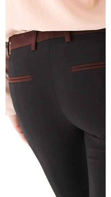 True Royal Colorblock Wool Pants