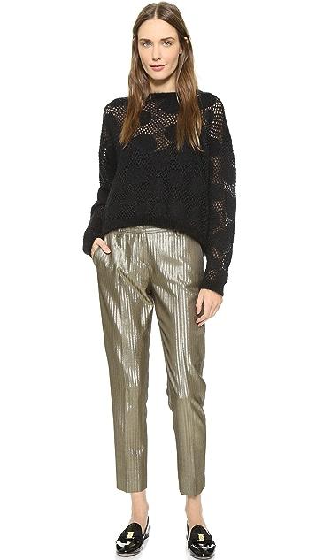 True Royal Укороченные брюки с боковыми карманами