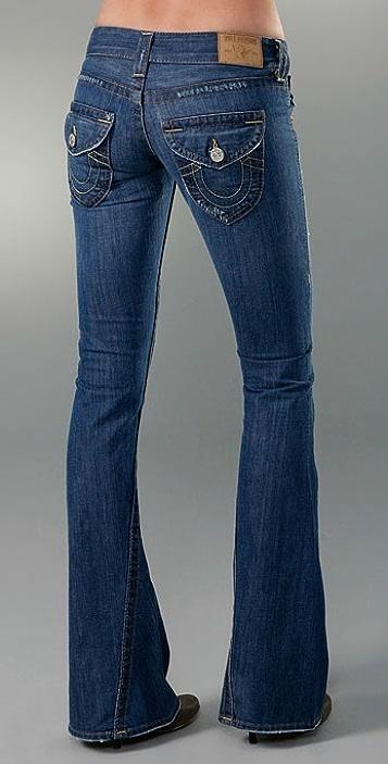 True Religion Joey Flare Leg Rigid Jean
