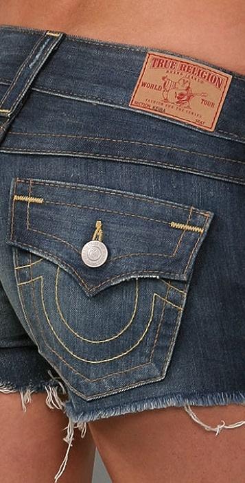 True Religion Keira Cutoff Shorts