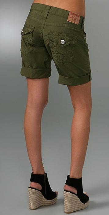 True Religion Riley Boyfriend Shorts