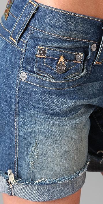 True Religion Jayde Boyfriend Shorts