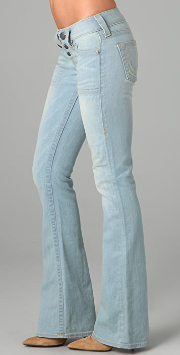 True Religion Morgan Wide Leg Flare Jeans