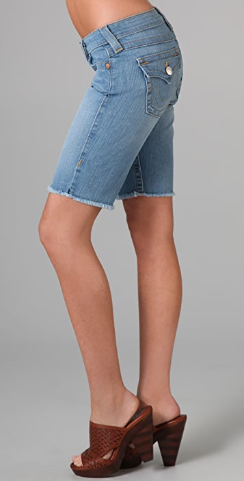 True Religion Natalie Knee Length Shorts