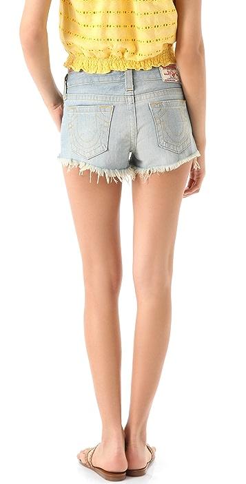 True Religion Dana Cutoff Shorts