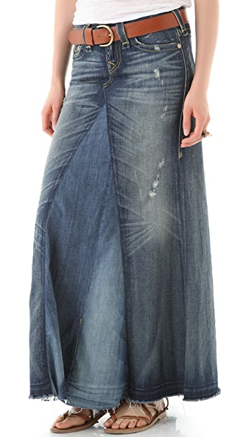 True Religion Dakota Denim Maxi Skirt