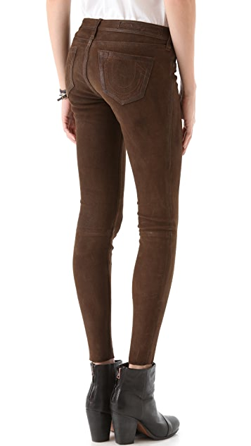 True Religion Casey Stretch Suede Pants