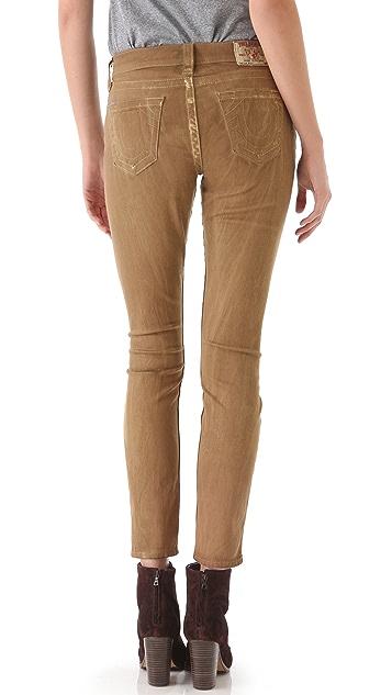 True Religion Halle Sunrise Coated Skinny Jeans