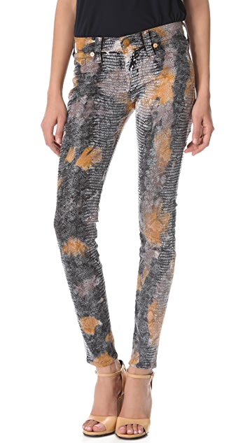 True Religion Halle Snakeskin Skinny Jeans