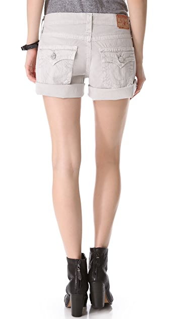 True Religion Jayde Boyfriend Shorts
