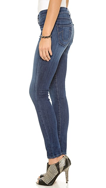 True Religion Casey Mid Rise Super Skinny Jeans