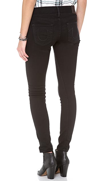 True Religion Edie Moto Skinny Jeans