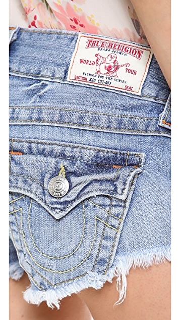 True Religion Joey Cut Off Shorts