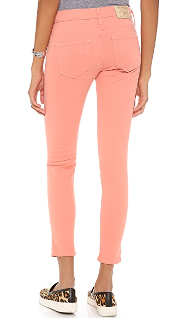 True Religion Chrissy Mid Rise Super Skinny Jeans