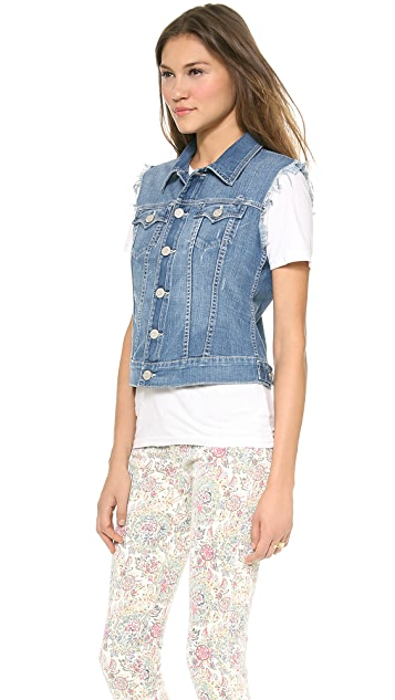 True Religion Shelby Sleeveless Western Vest