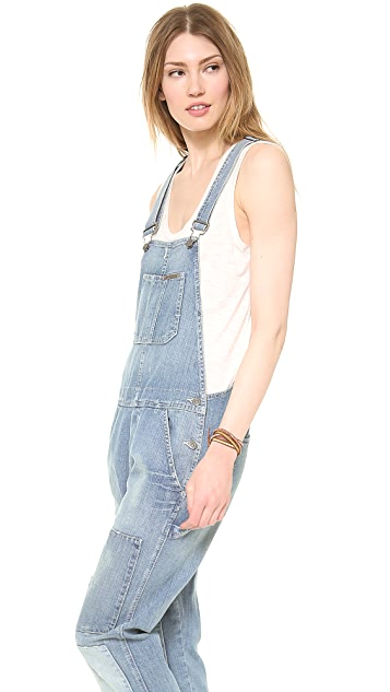 True Religion Erin Relaxed Overalls