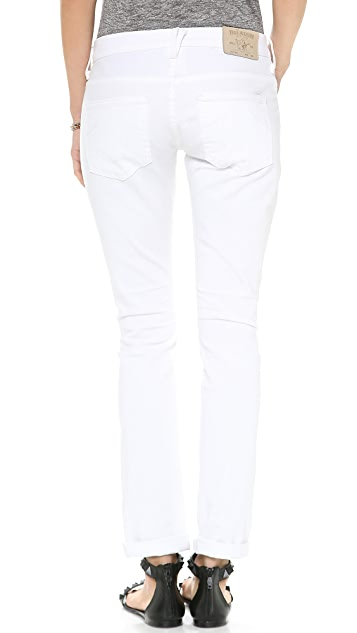 True Religion Audrey Cropped Boyfriend Jeans
