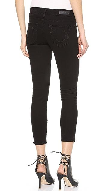 True Religion Linda Mid Rise Super Skinny Capri Pants