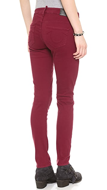 True Religion Brisbane Mid Rise Surplus Skinny Pants