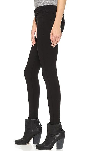 True Religion Halle Mid Rise Super Skinny Ponte Pants