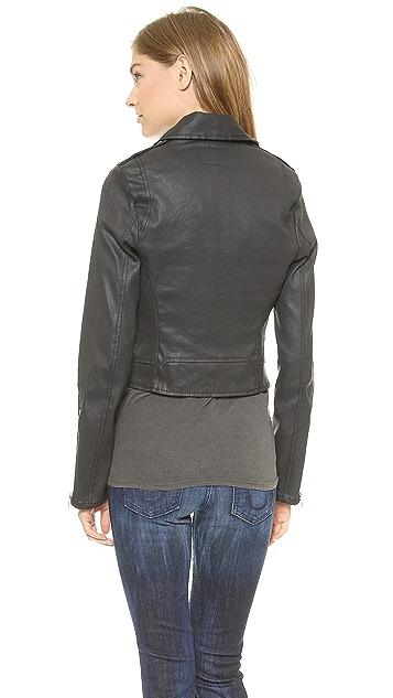 True Religion Moto Coated Jacket