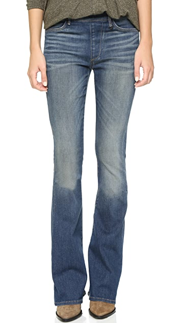 True Religion Runway Pull On Flare Jeans