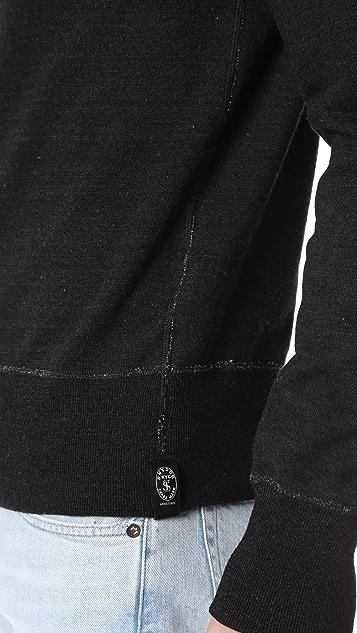 Todd Snyder Black Indigo Crew Sweatshirt