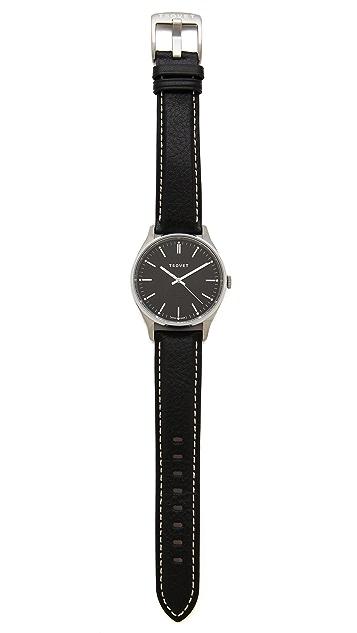 Tsovet Silver & Black 40MM Watch