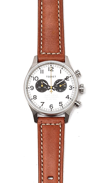 Tsovet SVT-DE40 40MM Chronograph Watch