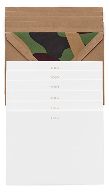 Terrapin Stationers YOLO Note Cards