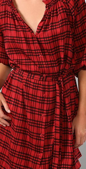 Tucker 3 Stripe Plaid Mini Dress