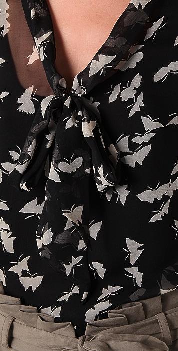 Tucker Long Sleeve Tie Blouse