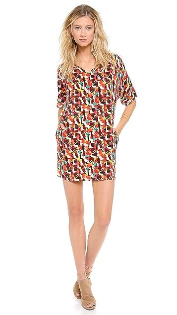 Tucker V Neck Tunic Dress
