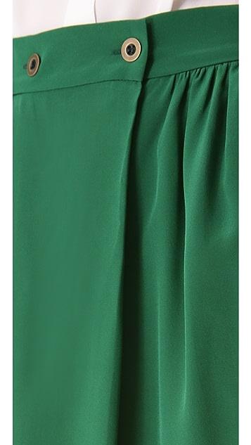 Tucker Button Wrap Skirt