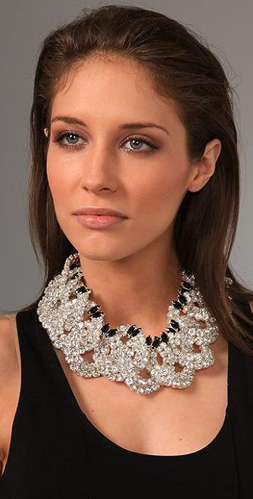 Tuleste Interlocking Circles Crystal Necklace