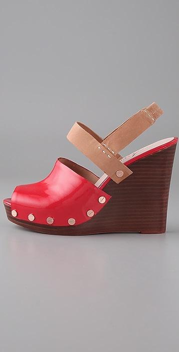 Tuleste Dana Clog Wedge Sandals