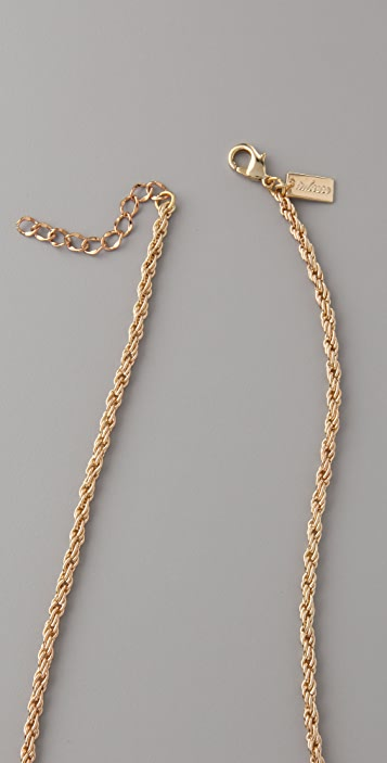 Tuleste Beaded Pom Pom Pendant Necklace