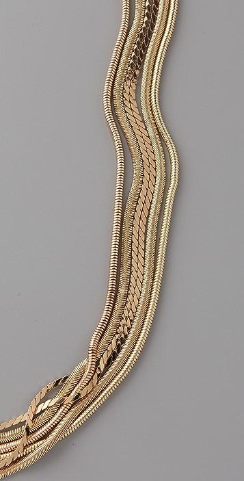 Tuleste Multi Strand Snake Chain Necklace