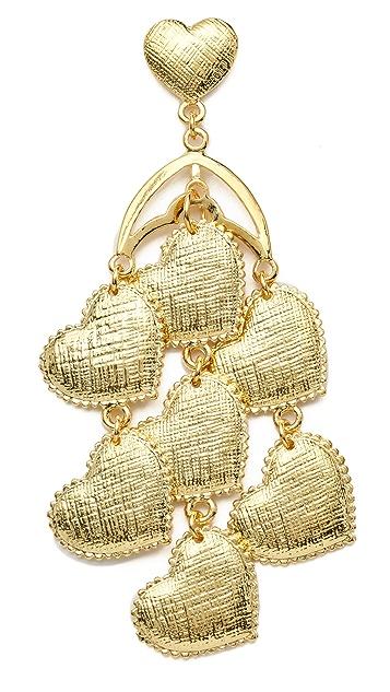Tuleste Heart Chandelier Earrings