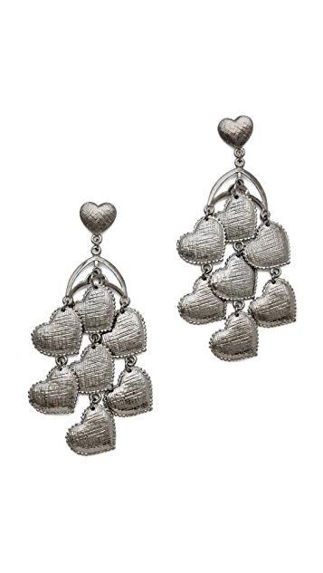 Tuleste Heart Chandelier Earrings