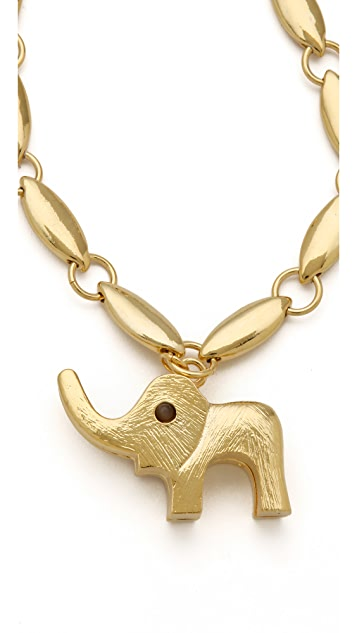 Tuleste Elephant Pendant Necklace