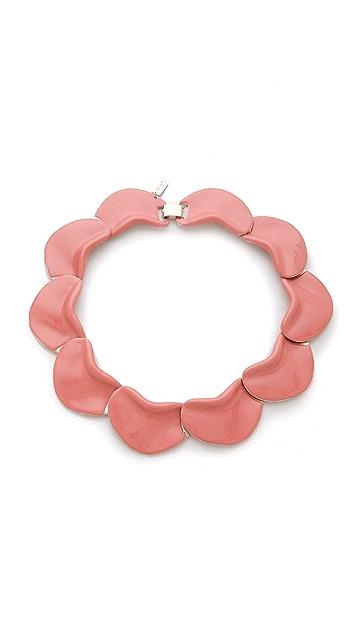 Tuleste Enamel Petals Necklace